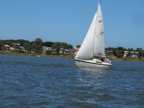 Sailing on the River Murray at Goolwa, South Australia