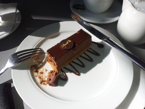 My indulgence at the Lindt Chocolate Cafe.