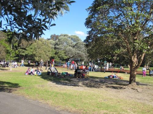 Family picnic at Centennial Park, Sydney