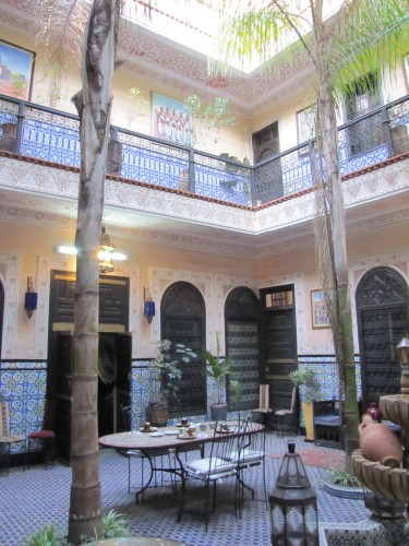 In our riad in Marrakech